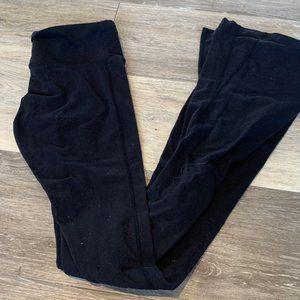 SPLIT 59 FLARED BLACK LEGGINGS SZ XS LONG